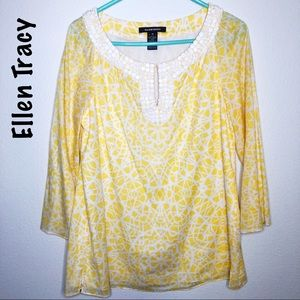 ** 5 FOR $25  Ellen Tracy Yellow tunic